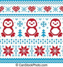 tejido, patrón, navidad