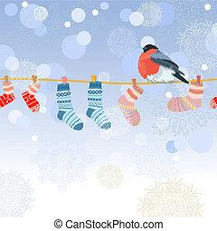 tejido, soga, calcetines rayados