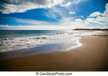 tejita, de, plage, playa, la