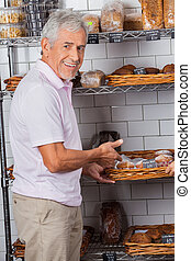 Tekakor, visande,  Senior,  Supermarket,  man