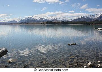 tekapo, nieuw-zeeland, meer