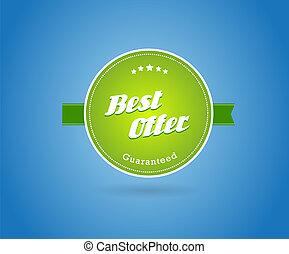 teken., groene, plank, best, aanbod