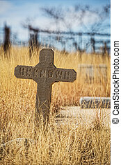teken, onbekend, steen, graf
