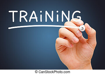 teken, opleiding, witte