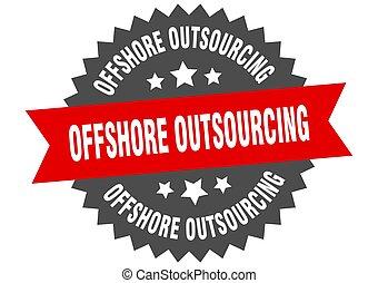 teken., outsourcing, voor de kust, circulaire, ronde,...