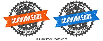 teken., postzegel, set, band, acknowledge, grunge
