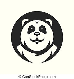 teken., vector, silhouette, panda