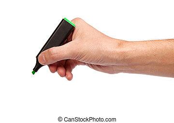teken werkje, vrijstaand, hand