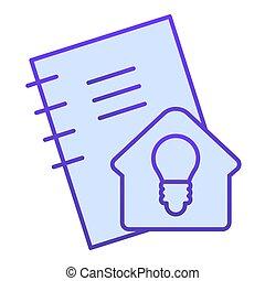 teken., witte , thuis, zelf, plat, idee, icon., helling, ...