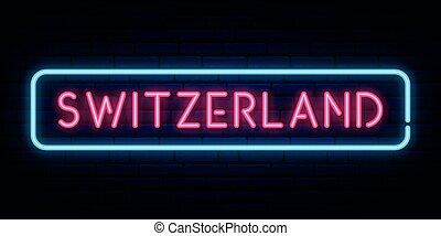teken., zwitserland, neon