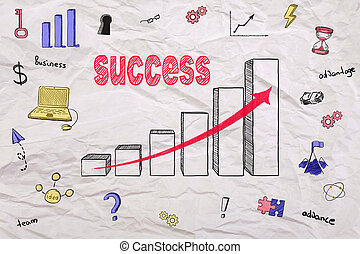 tekening, succes, tabel
