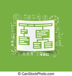 tekening, zakelijk, formulas:, tabel