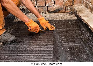 tekercs, bevezetés, waterproofing