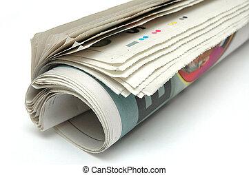 tekercs, közül, újság