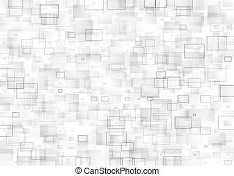 teknisk, abstrakt, fyrkant, geometrisk, bakgrund