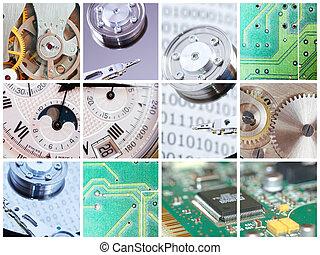 teknisk, collage