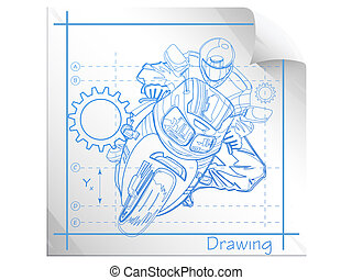 teknisk, illustration