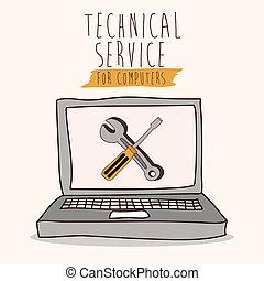 teknisk, service