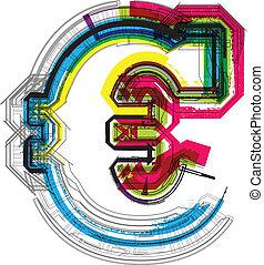 teknisk, typografi