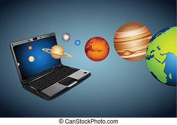 teknisk, universum