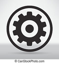 tekniske, genstand, isoleret, illustration, det gears,...