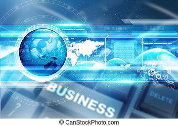 teknologi, bakgrund, digital