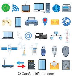 teknologi, ikon