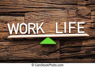tekst, życie, praca, balansowy, huśtać się