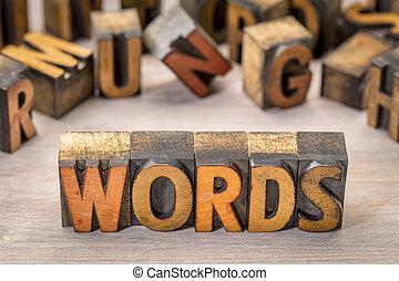 tekst, abstract, hout, type, woorden