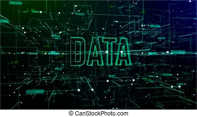 tekst, animatie, 'data', digitale , ruimte