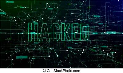 tekst, animatie, digitale , 'hacked', ruimte