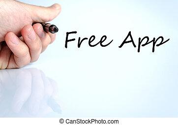 tekst, app, pojęcie, wolny
