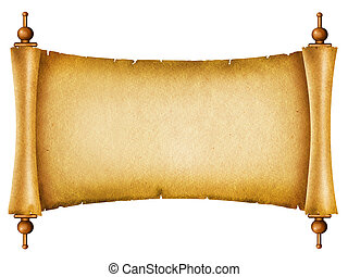 tekst, avis, antikke gamle, baggrund, scroll, texture., hvid