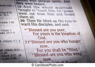 tekst, biblia, błogosławieństwa