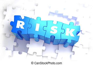tekst, blauwe , puzzles., verantwoordelijkheid, -