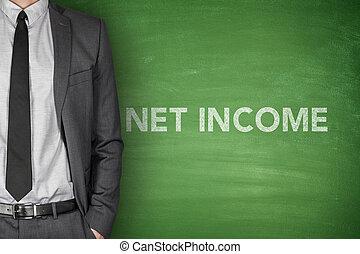 tekst, bord, groene, net, inkomen