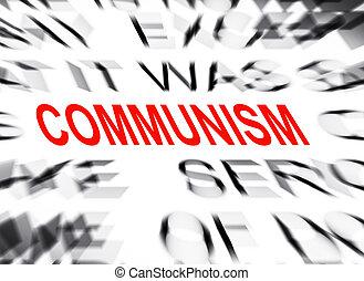 tekst, communisme, brandpunt, blured