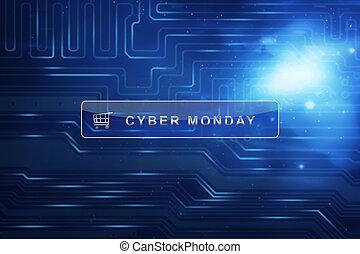 tekst, cyber, maandag