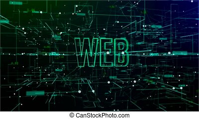 tekst, digitale , 'web', animatie, ruimte