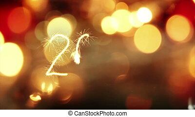 tekst, groet, animatie, jaar, sparkler, nieuw, 2017