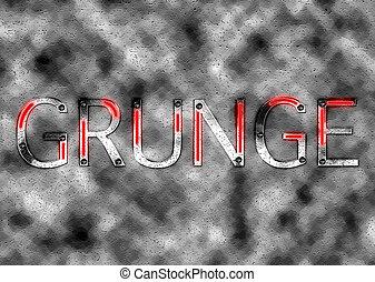 tekst, grunge