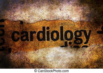 tekst, grunge, tło, kardiologia