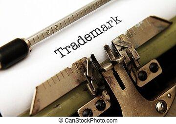 tekst, handelsmerk, typemachine