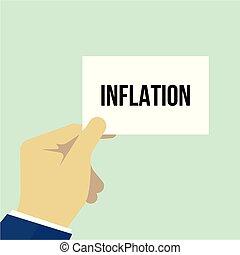tekst, het tonen, papier, inflatie, man