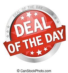 tekst, knap, dag, deal