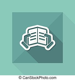 tekst, lezende , pictogram