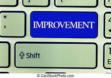 tekst, meldingsbord, het tonen, improvement., conceptueel, foto, maken, spullen, beter, groeien, bijzondere , verandering, innovatie, voortgang