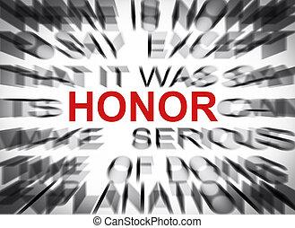 tekst, ognisko, poplamiony, honor