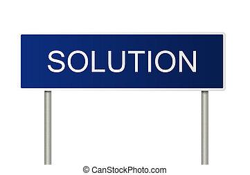 tekst, oplossing, wegaanduiding