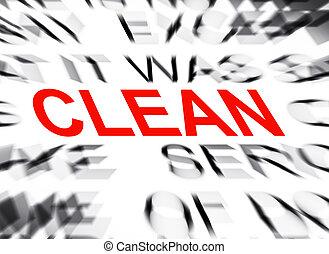 tekst, schoonmaken, brandpunt, blured